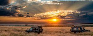 Safari Vehicle Sunrise