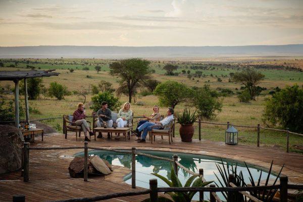 Mkombe house around the pool