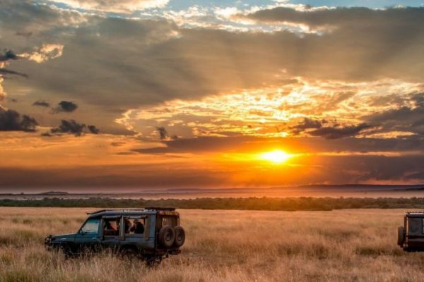 Safari Vehicle Sunrise